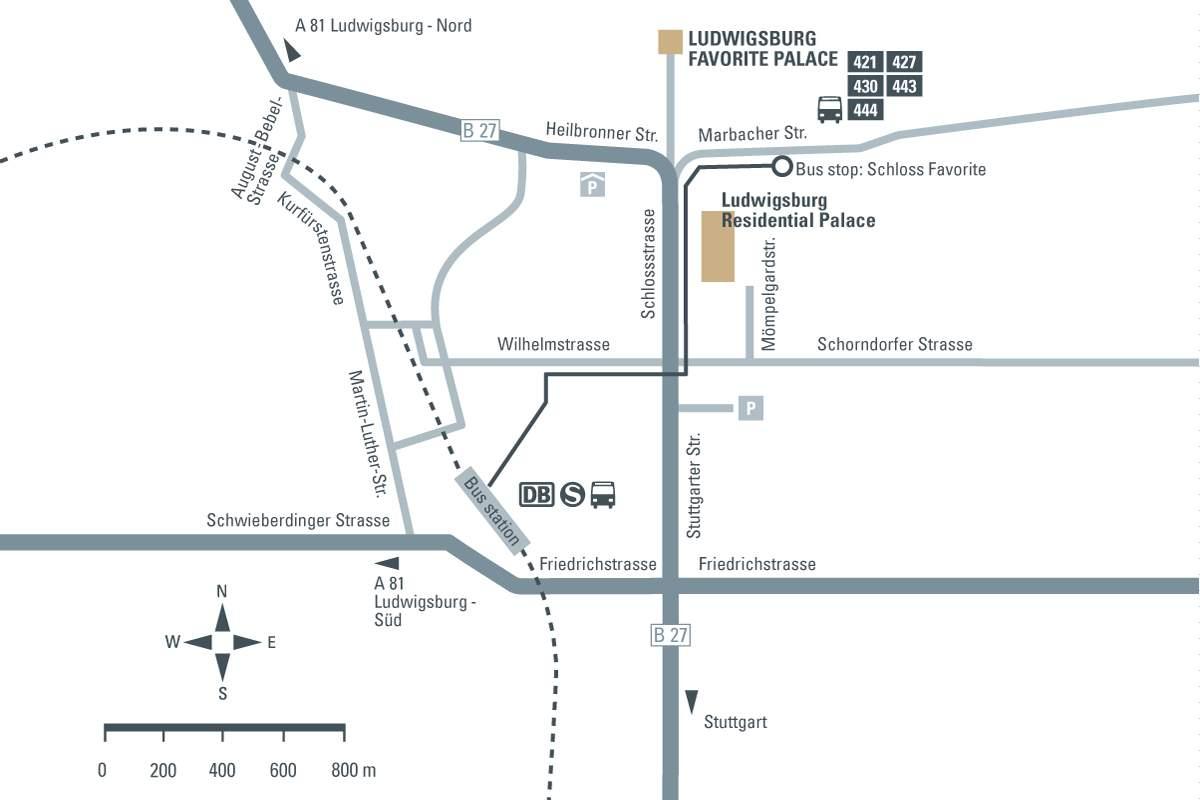 journey description: Ludwigsburg Favorite Palace, illustration: Staatliche Schlösser und Gärten Baden-Württemberg, JUNG:Kommunikation