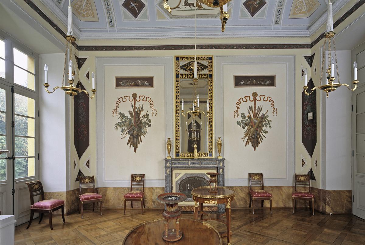 Jagdzimmer von Schloss Favorite Ludwigsburg; Foto: Staatliche Schlösser und Gärten Baden-Württemberg, Arnim Weischer