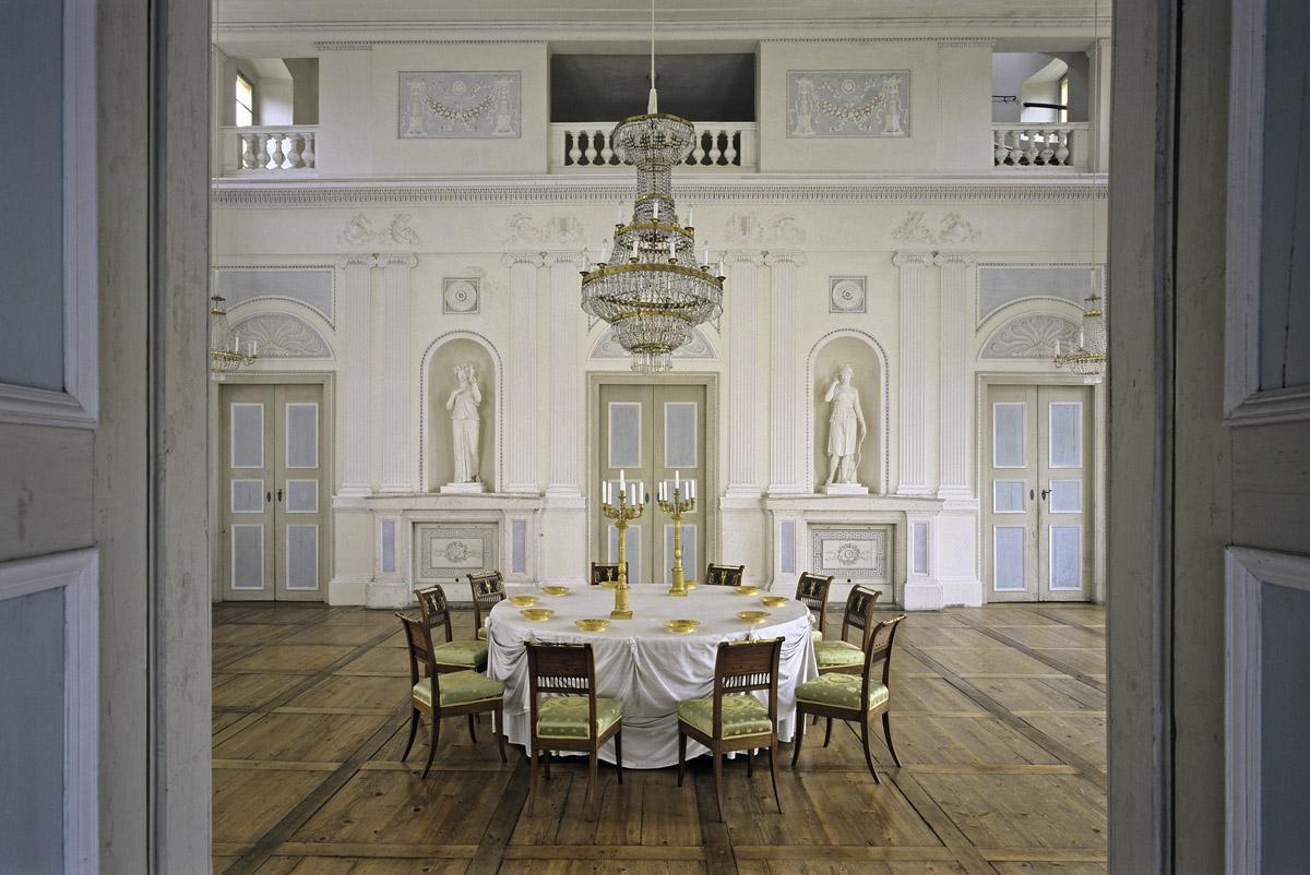 Saal in der Beletage von Schloss Favorite Ludwigsburg; Foto: Staatliche Schlösser und Gärten Baden-Württemberg, Steffen Hauswirth