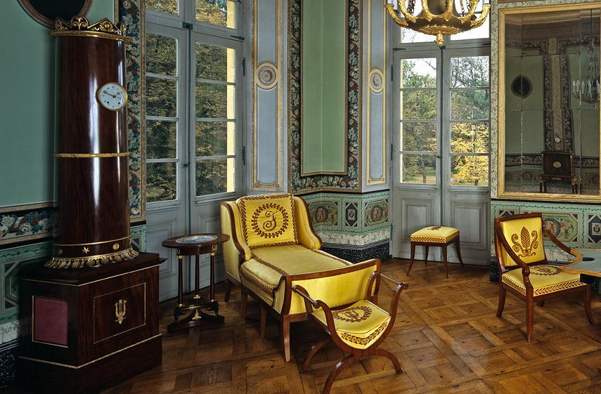 Das nordwestliche Zimmer in Schloss Favorite Ludwigsburg; Foto: Staatliche Schlösser und Gärten Baden-Württemberg, Arnim Weischer