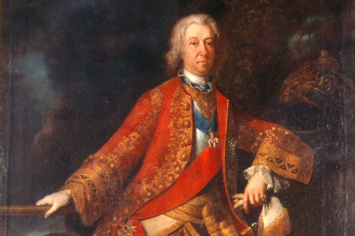 Porträt von Herzog Eberhard Ludwig, Erbauer von Schloss Favorite Ludwigsburg; Foto: Wikipedia, gemeinfrei