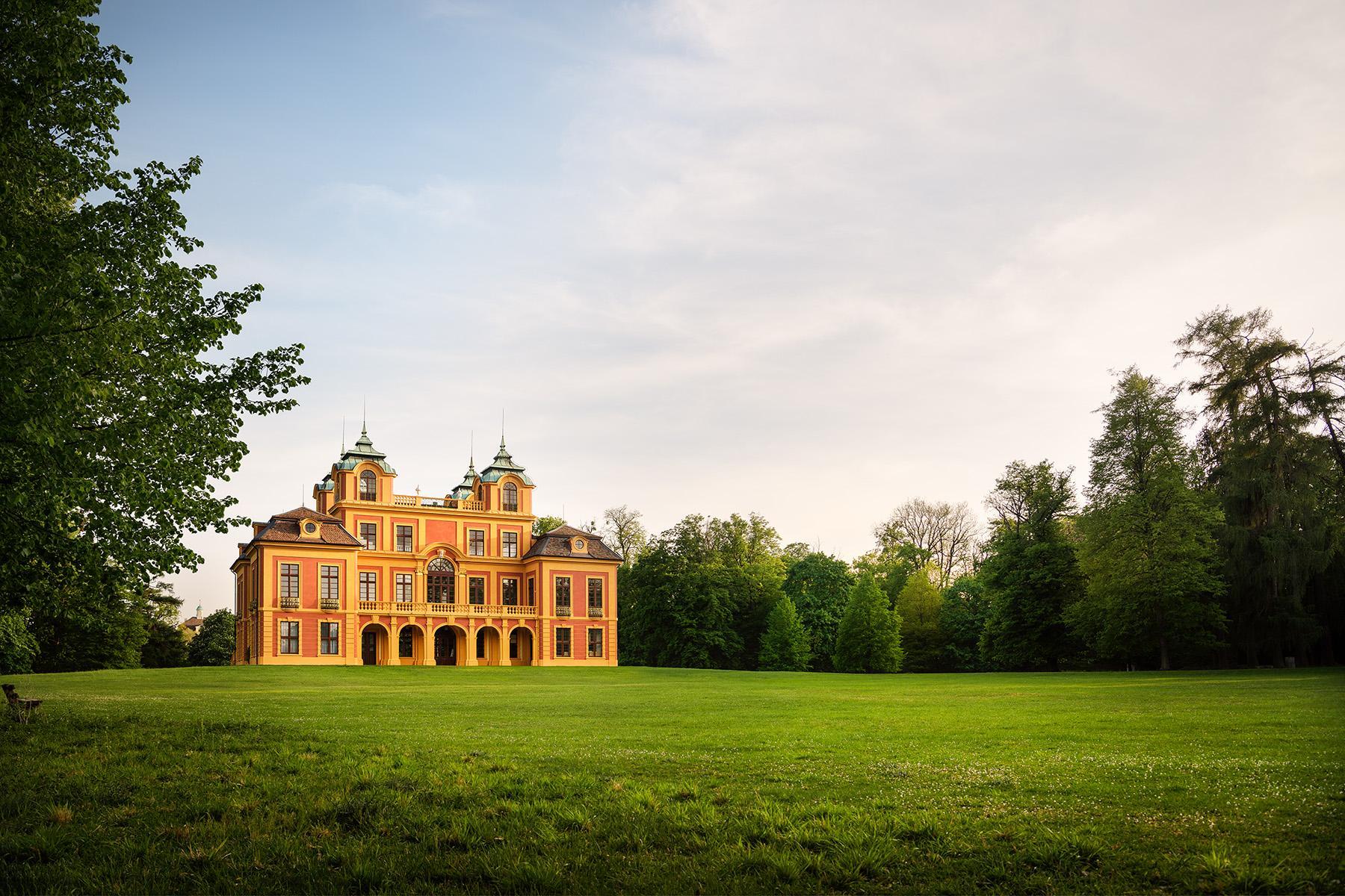 Schloss Favorite Ludwigsburg, Aufnahme vom Schloss mit Favoritepark