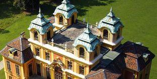 Blick auf die Dachterrasse von Schloss Favorite Ludwigsburg