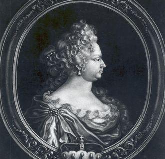 Porträt der Ehefrau Eberhard Ludwigs, Johanna Elisabeth, um 1725; Foto: Landesmedienzentrum Baden-Württemberg, Robert Bothner