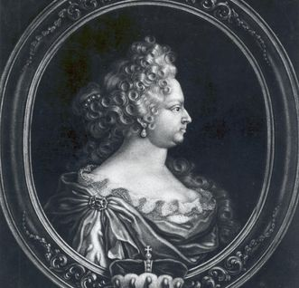 Porträt der Ehefrau Eberhard Ludwigs, Johanna Elisabeth, um 1725