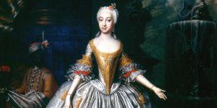 Porträt von Elisabeth Friederike von Brandenburg-Bayreuth (1732–1780), Wolfgang Majer, um 1745.