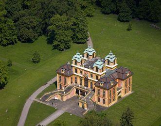 Luftbild von Schloss Favorite Ludwigsburg