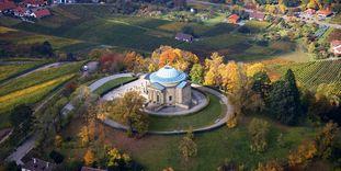 Chapelle funéraire du Wurtemberg, Vue aérienne