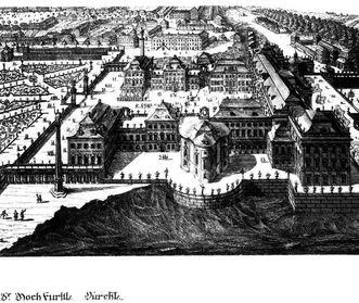 Residenzschloss Ludwigsburg, Zeichnung von Donato Giuseppe Frisoni, 1733