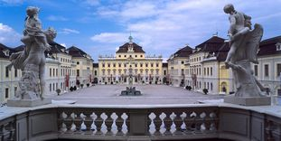 Château résidentiel de Ludwigsbourg, vue aérienne