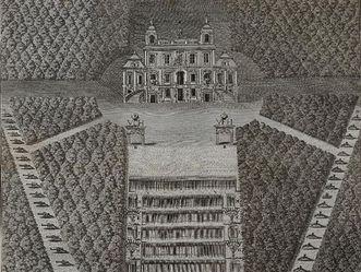 Schloss Favorite Ludwigsburg, Hochzeitsfeuerwerk 1748, Heimführungs-Festivitaeten des Herrn Carls von Wilhelm Friedrich Schönhaar