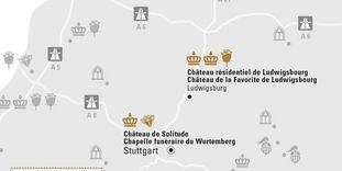 """Carte de région """"Stuttgart et sa Région"""""""