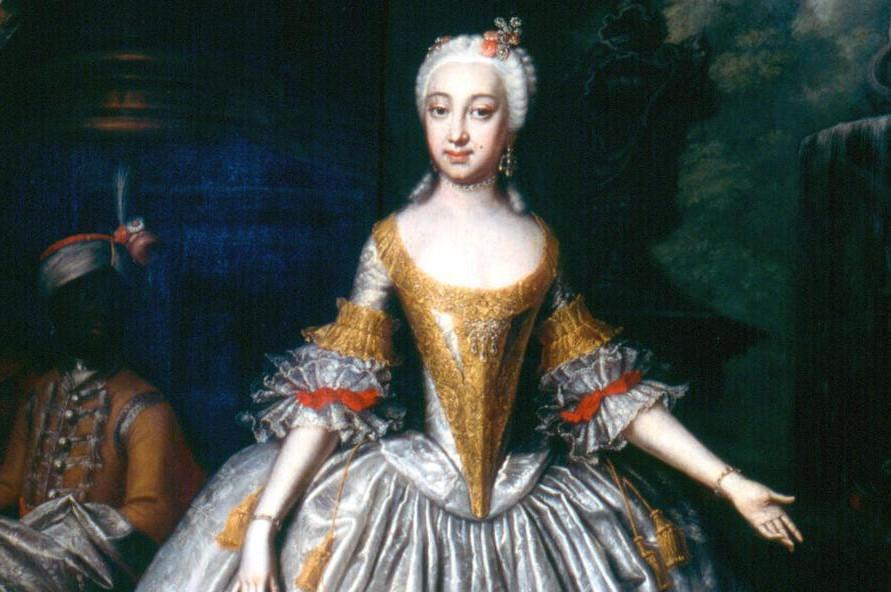 Porträt von Elisabeth Friederike von Brandenburg-Bayreuth (1732–1780), Wolfgang Majer, um 1745